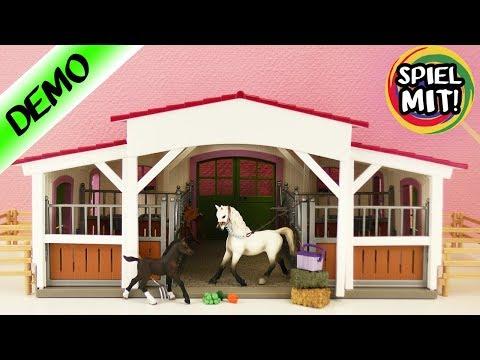 Play doh - Schleich Reiterhof aufbauen  Großer HORSE CLUB Pferdehof mit Reiterin, Pferd, Fohlen Unboxing Demo