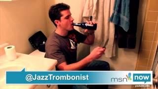 My idol Paul the Trombonist on the news.