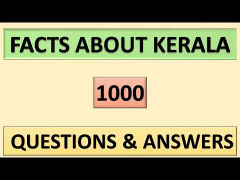 KERALA PSC || FACTS ABOUT KERALA || 1000 QUESTIONS & ANSWERS
