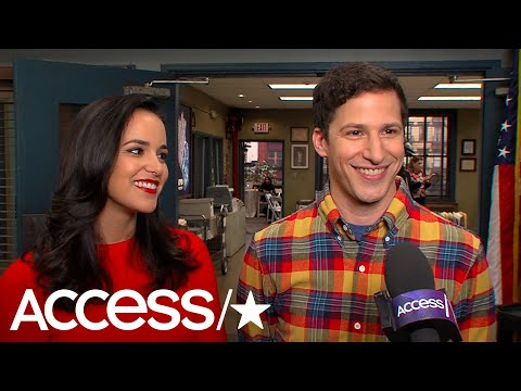 'Brooklyn Nine-Nine's' Melissa Fumero & Andy Samberg On Their Show's Return; Amy & Jake's Honeymoon