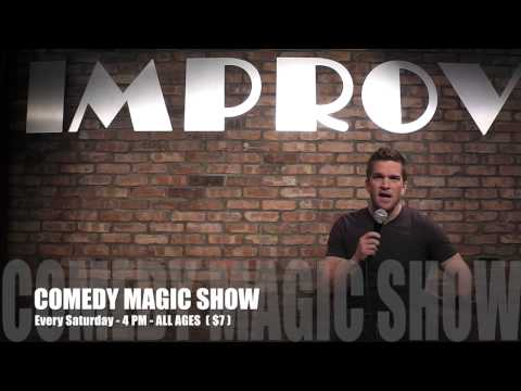 Kansas City Magician Devin Henderson at the KC Improv