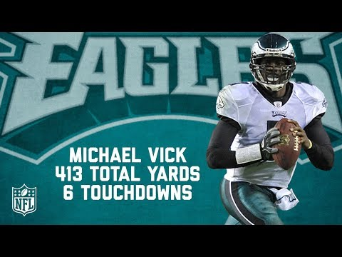 Video: Michael Vick's 6 Touchdown, 413-Yard Game | Full Highlights | Eagles vs. Redskins (2010) | NFL