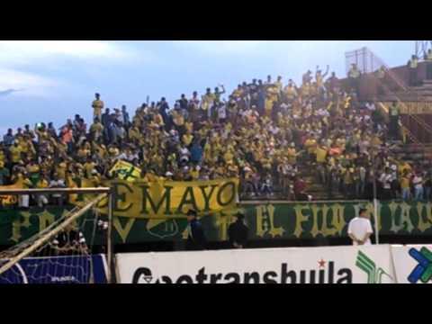 HINCHADA ALENTANDO  HUILA 1-0 NACIONAL 6DIC2014 - Alta Tensión Sur - Atlético Huila