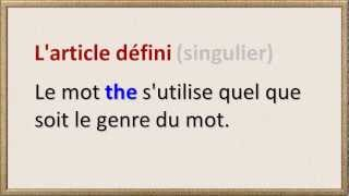 Leçon D'anglais No. 3 (the)