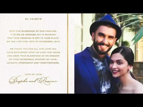 Deepika Padukone and Ranveer Singh Confirm Marriag