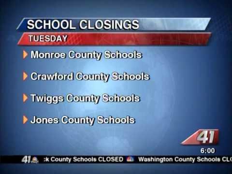 41NBC/WMGT - School Closing Latest - 1.6.14