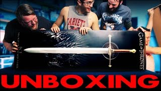 Eric Shane Calvin and Aaron unbox and react to the game of thrones Sword of Eddard Stark ICE Visit our Website...