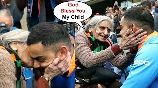 Virat Kohli Gets Blessing From 87 Year Old Elderly Fan After Beating Bangladesh In World Cup Tie
