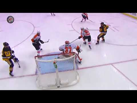 Crosby Scores Unbelievable Goal vs Flyers in Playoffs 2018