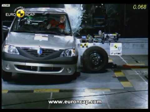 Logan euroncap çarpışma / güvenlik testi videosu