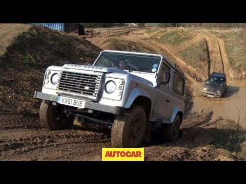 Defender - Autocar pitches the Land Rover Defender against a tiny and cheap Suzuki Jimny over a wet, muddy and rutted off-road course. The Suzuki gets left in the heavy...