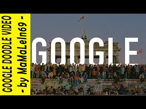 la caduta del muro di berlino nel doodle di google