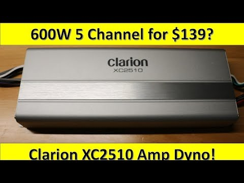 $139 600W RMS 5 Channel Amp From Clarion Unboxed and on the Dyno!