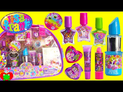 Lisa Frank Lip Balms, Nail Polishes, and Surprises