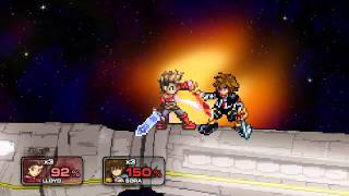 ME BEATING LEVEL 9 SORA WITH ALL 3 STOCKS (Super Smash Flash 2)
