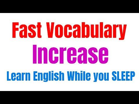 Learn English While you SLEEP ★ Fast vocabulary increase ★ अंग्रेजी सीखने का आसान तरीका ✔