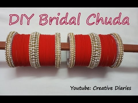 Video DIY Bridal Chuda: Make your own bridal chuda from old bangles at home in few easy and simple steps download in MP3, 3GP, MP4, WEBM, AVI, FLV January 2017