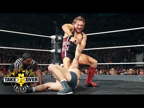 Pete Dunne brutalizes Tyler Bate with a ruthless attack - WWE UK Title Match: NXT Takeover: Chicago