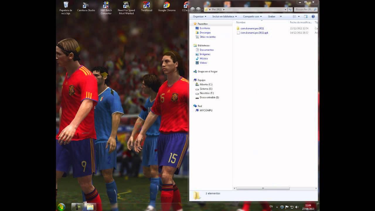 Descargar PES 2011 para Alcatel 4010a (T'POP) Android 2.3.6 SIN ROOT para celular #Android