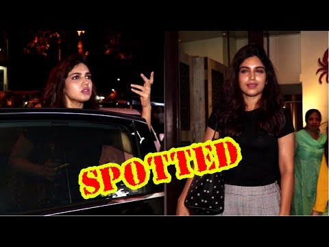 Bhumi Pednekar Dinner With Her Family At Bastian Hotel