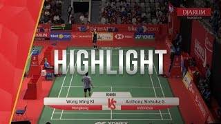Wong Wing Ki (Hongkong) VS Anthony Sinisuka Ginting (Indonesia)