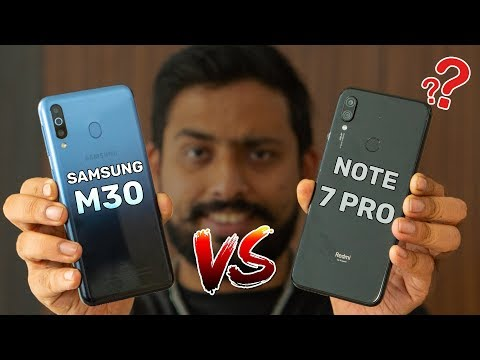 Redmi Note 7 Pro Vs Samsung Galaxy M30 Comparison, Camera, Speed, Design, Battery | GT Hindi