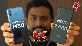 Redmi Note 7 Pro Vs Samsung Galaxy M30 Comparison, Camera, Speed, Design, Battery | GT Hindi