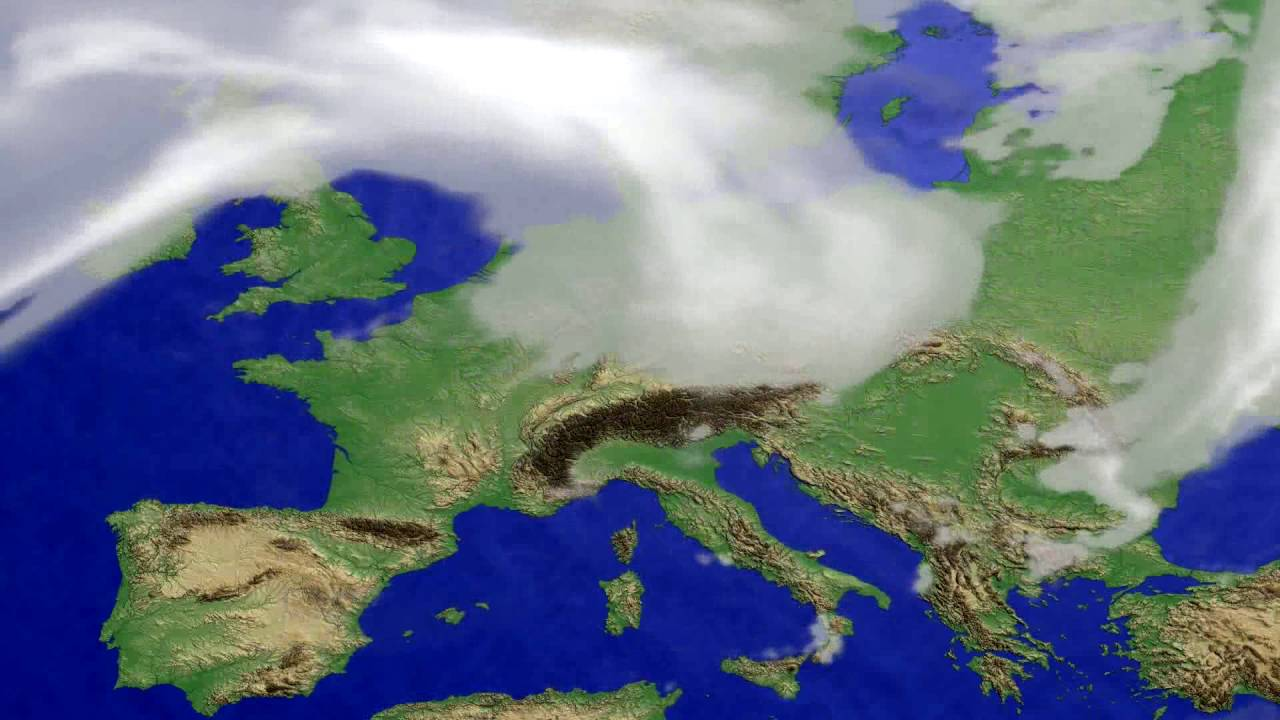 Cloud forecast Europe 2016-08-08