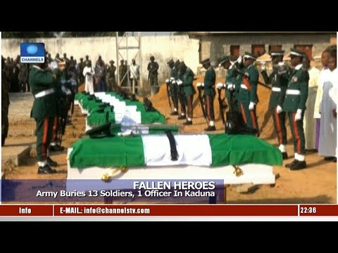 Army Buries 13 Soldiers, 1 Officer In Kaduna 11/01/19 Pt.3 |News@10|