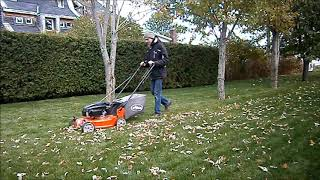 7. Ariens Blade Runner Lawn Mower - Last mow of 2018 and bagging leaves