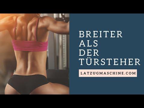 Breiter Rücken mit Latzugmaschine ⇒ latzugmaschine.com