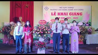 Phó Bí thư Thành uỷ, Chủ tịch UBND thành phố Phạm Tuấn Đạt chúc mừng khai giảng năm học 2021 – 2022 Trường Cao đẳng nghề xây dựng
