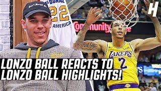 Video Lonzo Ball Reacts To Lonzo Ball Highlights! MP3, 3GP, MP4, WEBM, AVI, FLV April 2019