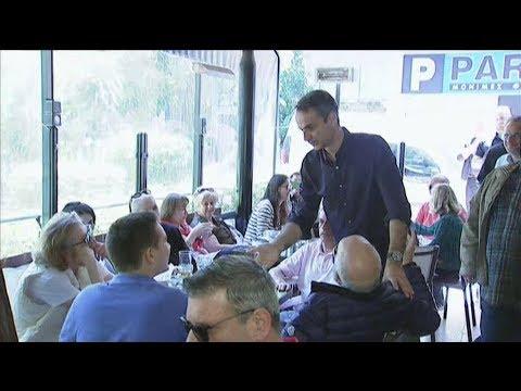 Με τους πολιτικούς συντάκτες που καλύπτουν το ρεπορτάζ της ΝΔ γευμάτισε ο Κ. Μητσοτάκης