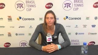 Luisa Stefani se despede do Brasil Tennis Cup
