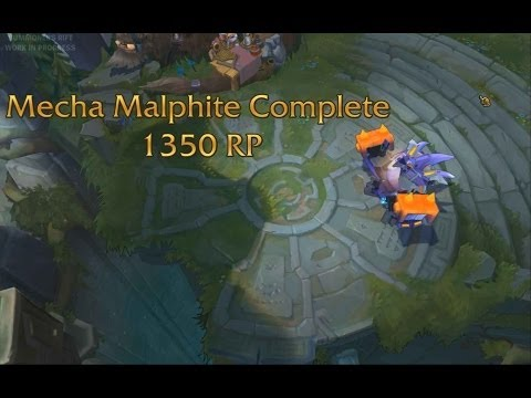 Mecha Malphite Complete with Sounds (League of Legends PBE) (видео)