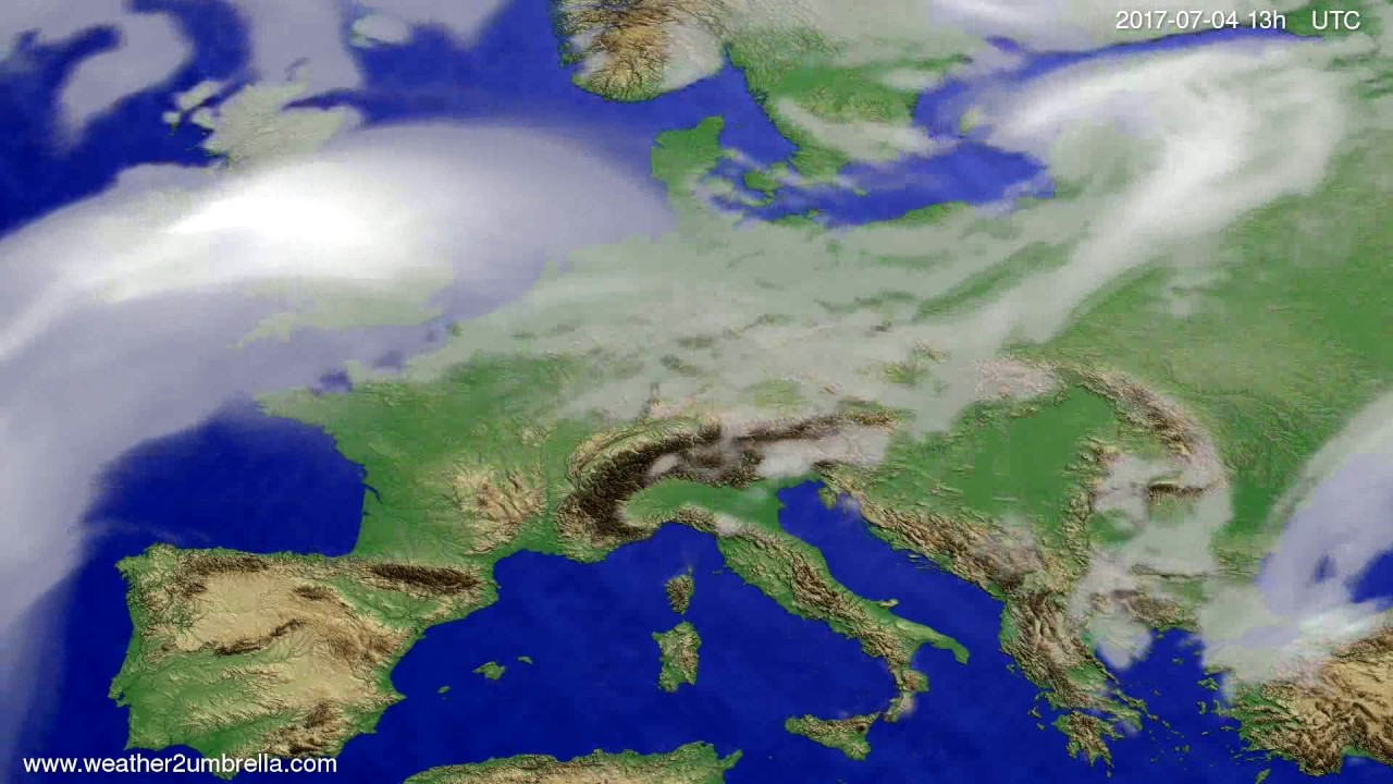Cloud forecast Europe 2017-07-01