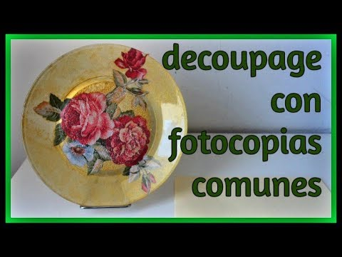 decoupage - come decorare un piatto con una fotocopia comune