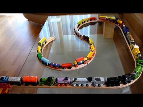 Thomas wooden train mega crash