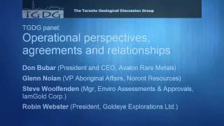 TGDG Presents: Canada's Mineral Landscape: Aboriginal Rights and Issues: Panel Discussion (7 of 7)