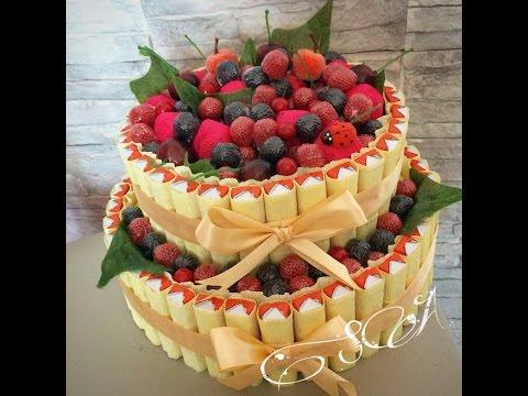 Торт с ягодами своими руками с пошаговое