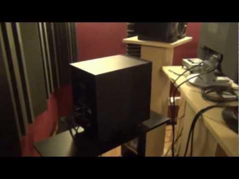 home studio - isolation - correction accoustique - réglage caisson basse