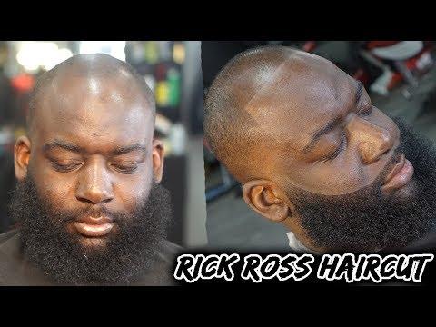 Beard oil - Barber Tutorial: How To Line A Receding Hairline/ Crispy Beard/ Rick Ross Haircut