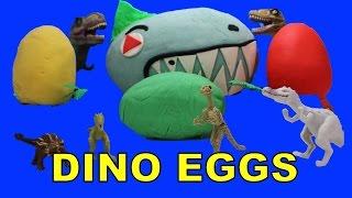 Video Dinosaur Eggs Surprise Play Doh | Dinosaurs Surprise Play Doh Eggs | Hatching Dinosaur Eggs MP3, 3GP, MP4, WEBM, AVI, FLV September 2018