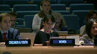 Vanesa Treers's intervention at the HLPF 2015: http://webtv.un.org