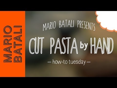 epicuriousdotcom - Want to make noodles without a machine? Mario Batali's got you covered. Cutting tagliatelle, tagliarini and papardelle is easy--all you need is a cutting boa...