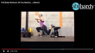 Full Body Workout - All you need is... a Bench!