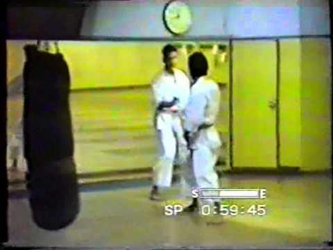 Mikio Yahara sensei, Richard Amos sensei, 1992 Ebisu JKA Honmbu-dojo