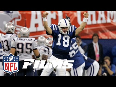 Video: #8 Peyton Manning Finally Beats Tom Brady | Top 10 Playoff Finishes | NFL Films