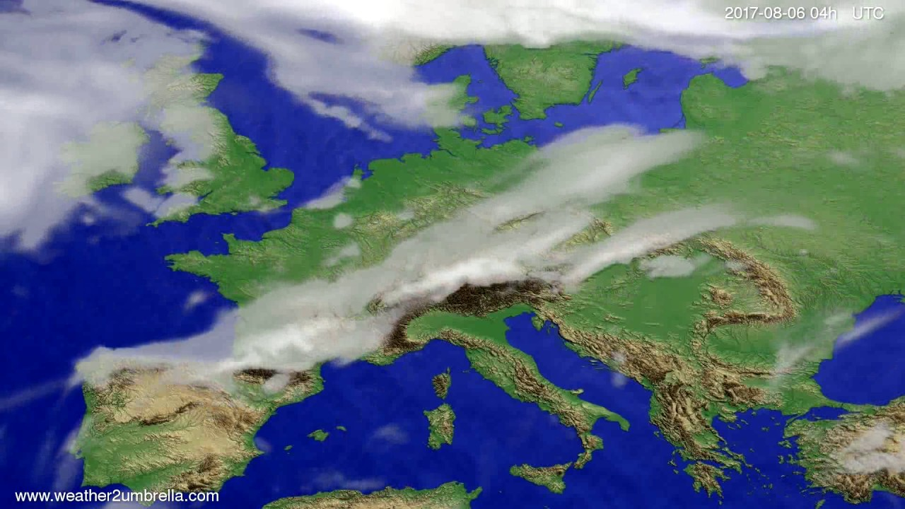 Cloud forecast Europe 2017-08-02